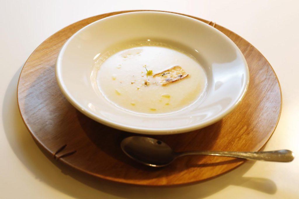 生姜天とかぶのスープ